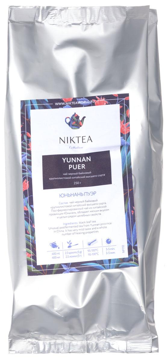 Niktea Yunnan Puer черный листовой чай, 250 гTALTHA-DP0003Niktea Yunnan Puer - постферментированный чай из китайской провинции Юньнань, обладает мягким вкусом и целым рядом целебных свойств. NikTea следует правилу качество чая - это отражение качества жизни и гарантирует: Тщательно подобранные рецептуры в коллекции топовых позиций-бестселлеров. Контролируемое производство и сертификацию по международным стандартам. Закупку сырья у надежных поставщиков в главных чаеводческих районах, а также в основных центрах тимэйкерской традиции - Германии и Голландии. Постоянство качества по строго утвержденным стандартам. NikTea - это два вида фасовки - линейки листового и пакетированного чая в удобной технологичной и информативной упаковке. Чай обладает многофункциональным вкусоароматическим профилем и подходит для любого типа кухни, при этом постоянно осуществляет оптимизацию базовой коллекции в соответствии с новыми тенденциями чайного рынка. Листовая коллекция NikTea представлена в...
