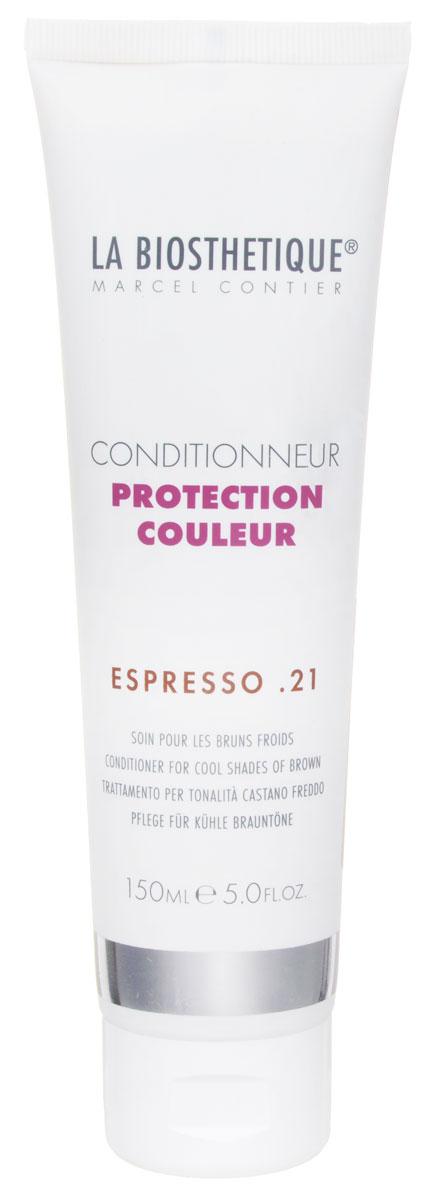 La Biosthetique Кондиционер для окрашенных волос Protection Couleur. Espresso 21, 150 млLB120960Кондиционер La Biosthetique Protection Couleur. Espresso 21 насыщает волосы влагой, улучшает структуру, укрепляет и наделяет их великолепным блеском. Тонирующие пигменты освежают и сохраняют насыщенность цвета, усиливая интенсивность холодных оттенков коричневого. Товар сертифицирован.