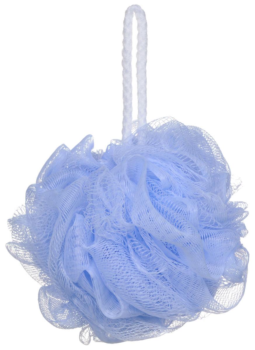 Riffi Мочалка-губка Массажный цветок, средняя, цвет: голубой. 340340_голубойМочалка Riffi Массажный цветок не вызывает аллергии, обладает хорошими моющими и пилинговыми свойствами. Она дает много пены при малом количестве мыла или моющего геля. Для удобства применения снабжена веревочной петлей. Товар сертифицирован.