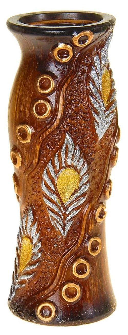 Ваза Sima-land Перо павлина, цвет: коричневый, золотистый, высота 30 см1044982Ваза Sima-land Перо павлина изготовлена из высококачественной керамики и декорирована блестками. Интересная форма и необычное оформление сделают эту вазу замечательным украшением интерьера. Ваза предназначена как для живых, так и для искусственных цветов. Любое помещение выглядит незавершенным без правильно расположенных предметов интерьера. Они помогают создать уют, расставить акценты, подчеркнуть достоинства или скрыть недостатки.