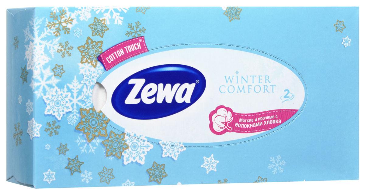 Zewa Платки косметические в коробке Winter comfort, двухслойные, цвет: голубой, 100 шт02.03.05.6286_голубойМягкие двухслойные гигиенические салфетки Zewa Winter comfort изготовлены из 100% целлюлозы и волокон. Обладают большой впитывающей способностью. Не вызывают аллергии, не раздражают чувствительную кожу. Просты и удобны в использовании. Товар сертифицирован.