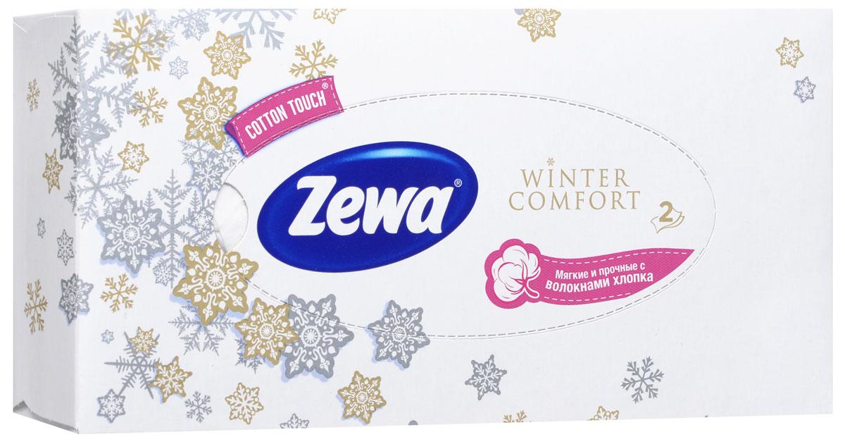 Zewa Платки косметические в коробке Winter comfort, двухслойные, цвет: белый, 100 шт02.03.05.6286_белыйМягкие двухслойные гигиенические салфетки Zewa Winter comfort изготовлены из 100% целлюлозы и волокон хлопка. Обладают большой впитывающей способностью. Не вызывают аллергии, не раздражают чувствительную кожу. Просты и удобны в использовании. Товар сертифицирован.