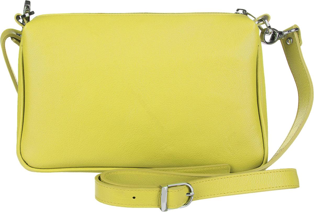 Сумка женская Fabula Every Day, цвет: салатовый. S.124.FPS.124.FPСтильная сумка Fabula Every Day, выполнена из натуральной кожи. Изделие содержит одно основное отделение, которое закрывается на застежку-молнию. Внутри сумки размещены два накладных кармана. Изделие оснащено съемным плечевым ремнем регулируемой длины. Яркий аксессуар позволит вам завершить образ и быть неотразимой.