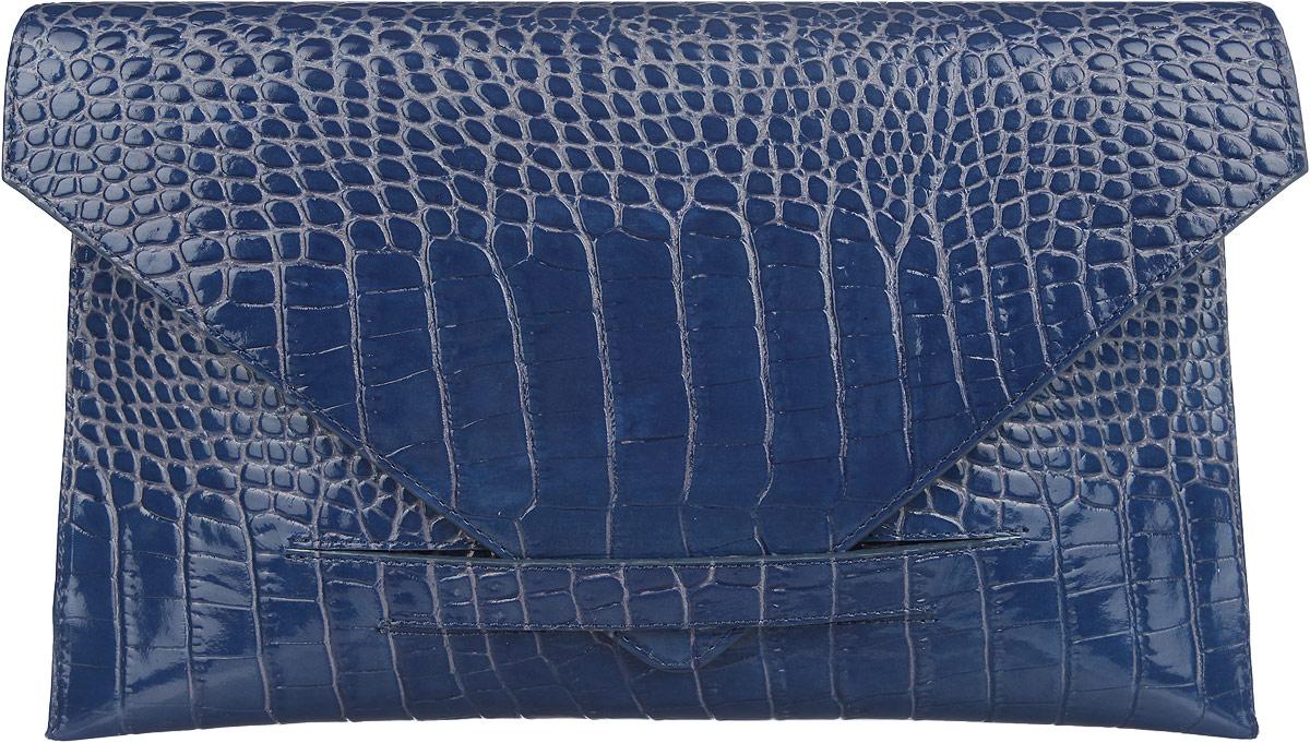 Сумка-клатч женская Fabula Croco Nile, цвет: синий. S.136.KRS.136.KRСтильная сумка-клатч Fabula Croco Nile, выполнена из натуральной кожи с тиснением под рептилию. Изделие содержит одно основное отделение, которое закрывается клапаном на фиксатор. Внутри сумки размещен врезной карман на застежке-молнии. Яркий аксессуар позволит вам завершить образ и быть неотразимой.