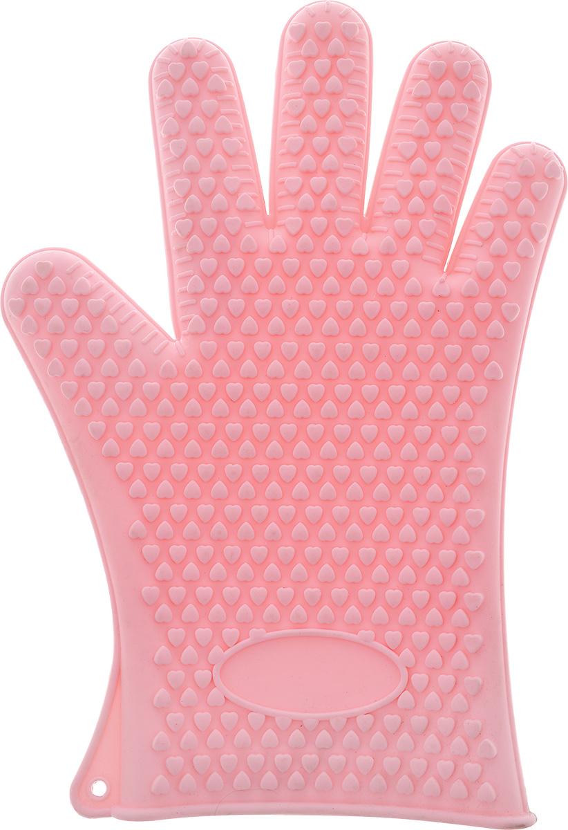 Прихватка-перчатка Mayer & Boch, цвет: розовый, 27,5 см21989Необыкновенно яркая и практичная прихватка-перчатка Mayer & Boch выполнена из мягкого и прочного силикона. Очень приятная на ощупь, невероятно гибкая, выдерживает большой перепад температур от -60°C до +230°С. Удобно и прочно сидит на руке. С помощью такой прихватки ваши руки будут защищены от ожогов, когда вы будете ставить в печь или доставать из нее выпечку. Можно мыть в посудомоечной машине.