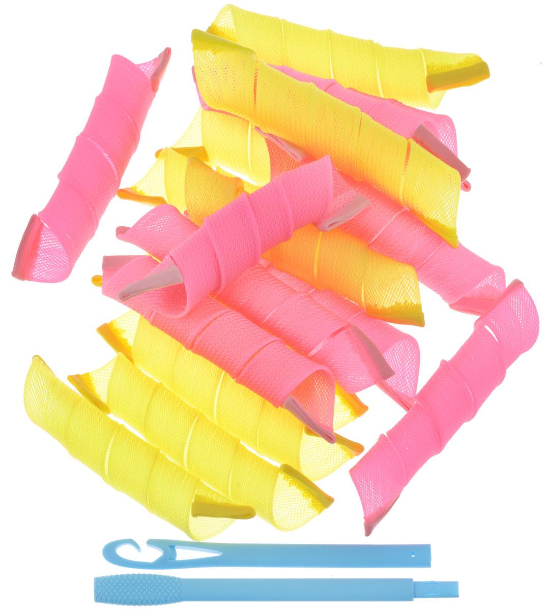 Curlformers Бигуди, 18 х 40 смК40В набор Curlformers входят 18 бигуди, крючок и текстильная косметичка на молнии, оформленная стеганным узором. Внутри нее есть два кармашка для всяких мелочей, вшитый карман на молнии и небольшое зеркало. Набор бигуди предназначен для создания мелких кудряшек, локонов и волн, а также придания дополнительного объема. Бигуди произведены из мягкого полимерного материала, и в них можно спать. Curlformers выполнены из мягкого пластика с силиконовыми наконечниками, что позволяет им служить долго, подходят для кончиков и на длинные волосы, а также на каскадную стрижку. Ваша прическа зависит только от вашей фантазии и настроения! Преимущества волшебных бигуди Curlformers: Создают большой объем. Удобны и легки в использовании. Справится даже ребенок! Подходят как для коротких, так и для длинных волос. Позволяют легко контролировать направление и равномерность укладки без заломов. Обеспечивают бережное отношение к волосам. Смена имиджа за...