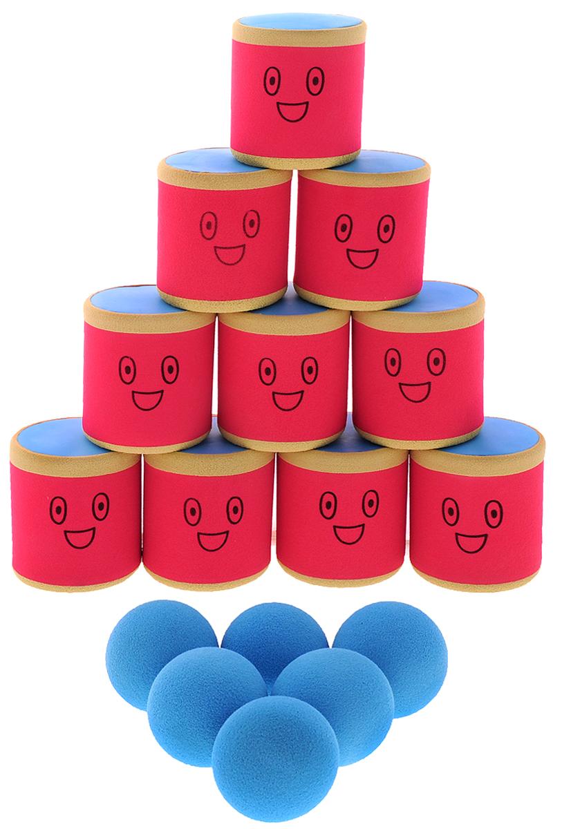 Safsof Игровой набор Городки цвет красный бежевый голубойAT-01N(B)_красный, бежевый, голубойИгровой набор Safsof Городки, изготовленный из вспененного полимера, состоит из десяти ярких банок и шести мячиков. Цель игры: выбить как можно больше фигур, построенных из трех и более городков (банок), мячами с определенного расстояния. Каждый участник сбивает фигуру с одного и того же расстояния, на каждую фигуру дается три броска. Если игроку удается сбить фигуру с первого броска, он получает 3 балла, со второго - 2 и с третьего - 1. Выигрывает тот участник, который набирает большее количество баллов. Благодаря яркой расцветке и легкому и безопасному материалу, с этим набором можно играть не только на улице, но и дома. Набор поставляется в удобной пластиковой сумке с ручками.