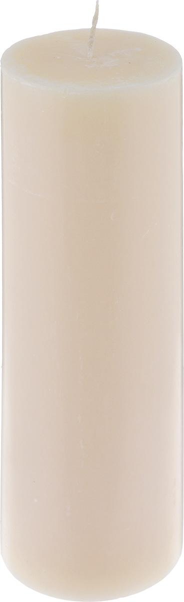 Свеча декоративная Proffi Home Столбик, цвет: бежевый, высота 23,5 смPH3429Свеча Proffi Home Столбик выполнена из парафина и стеарина в классическом стиле. Изделие порадует вас ярким дизайном. Такую свечу можно поставить в любое место, и она станет ярким украшением интерьера. Свеча Proffi Home Столбик создаст незабываемую атмосферу, будь то торжество, романтический вечер или будничный день.
