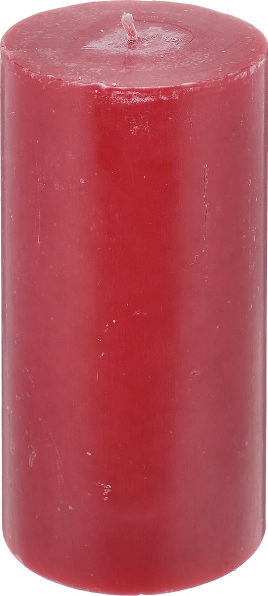 """Свеча декоративная Proffi Home """"Столбик"""", цвет: бордовый, высота 15 см"""