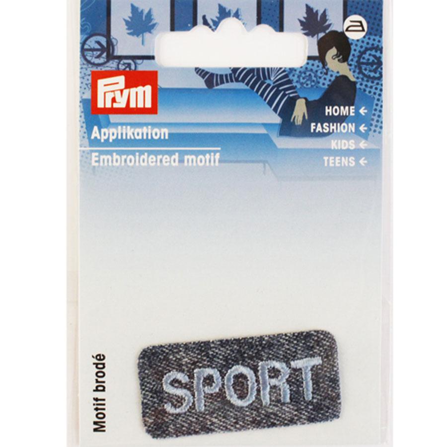 Термоаппликация Prym Sport, 4,2 см х 2 см7707233Вышитая термоаппликация Prym Sport с обратной стороны имеет клеящую основу, при помощи которой вы без труда прикрепите данную аппликацию на вашу одежду. Для большей надежности вы также можете пришить ее по краям, предотвращая отклеивание после многократных стирок. Термоаппликация выполнена в прямоугольной форме с надписью Sport.