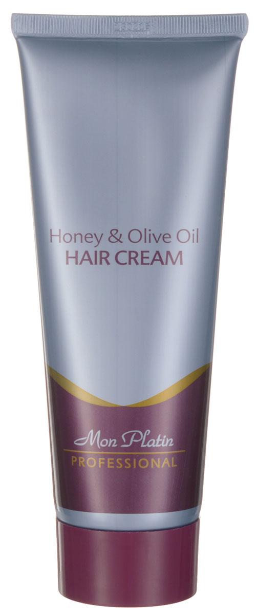 Mon Platin Professional Крем для волос, обогащенный медом и оливковым маслом 250млMP531Крем создан для ежедневного, заботливого ухода за сухими, поврежденными волосами. Крем обогащает, защищает и увлажняет волосы. Помогает избавиться от такой проблемы, как секущиеся концы волос; облегчает укладку вьющихся поврежденных волос. Специально подобранная комбинация ингредиентов обогащает волосы элементами, утраченными во время химической обработки волос (покраски, хим. завивки). В состав крема включены витамины В5 и Е, оливковое масло, пчелиное маточное молочко, прополис и натуральный мед. Крем восстанавливает и придает силы поврежденным волосам посредством обволакивания каждого волоса специальной защитной пленкой. После применения средства волосы выглядят живыми и блестящими. Крем не делает волосы жирными.