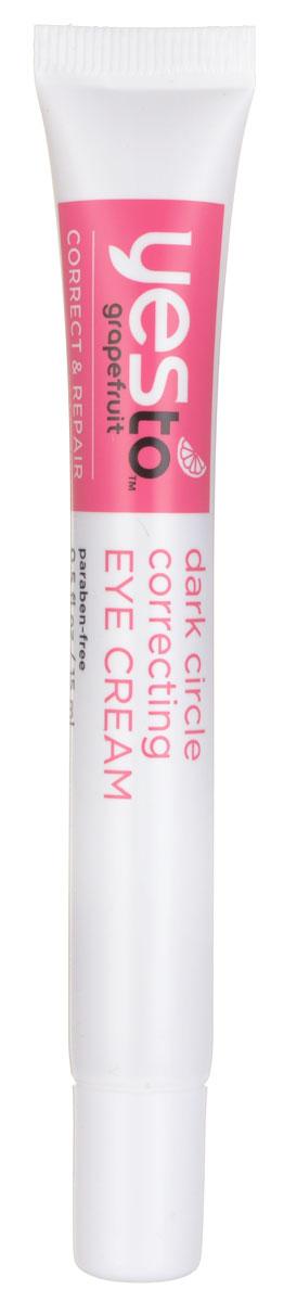 Yes To Корректирующий крем от темных кругов под глазами, 15 мл6311201Крем вокруг глаз содержит экстракт индийского крыжовника, богатый антиоксидантами и витамином С, который восстанавливает кожу. Экстракт грейпфрута предотвращает появление пигментных пятен и способствует сиянию кожи. Экстракт лакрицы снижает отечность и покраснение кожи. Легкое масло крамбе восстанавливает липиды кожи и улучшает цвет лица, что идеально подходит для очень чувствительной кожи вокруг глаз.