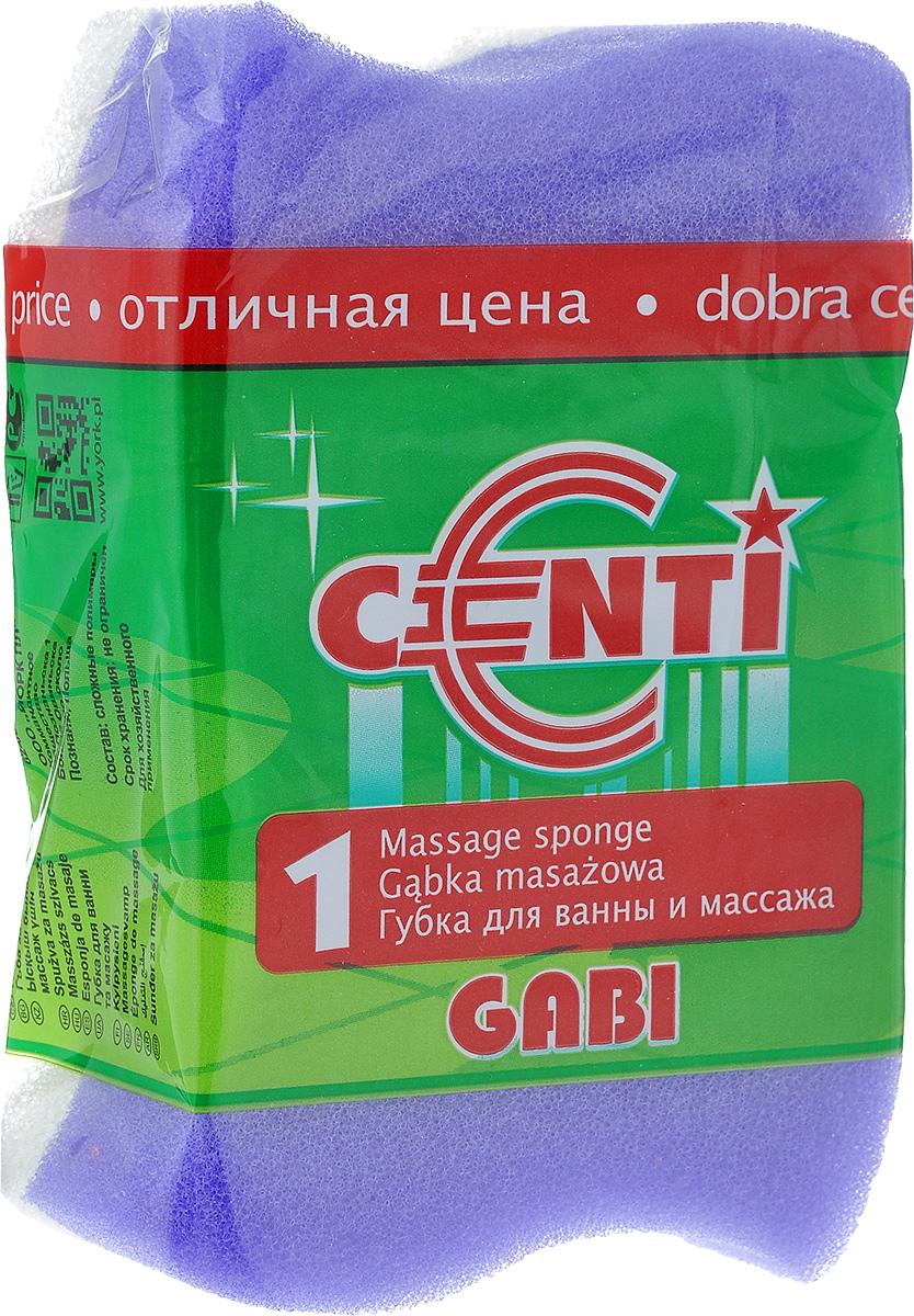 Губка для тела Centi Gabi, массажная, цвет: фиолетовый, белый, 13,5 х 9,5 х 4,5 см1111Губка для тела Centi Gabi изготовлена из мягкого экологически чистого полимера. Пористая структура губки создает воздушную пену даже при небольшом количестве геля для душа. Эффективно очищает и массирует кожу, улучшая кровообращение и повышая тонус.