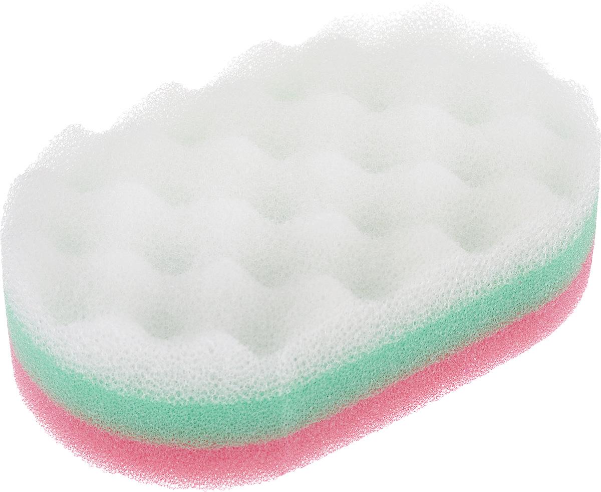 Губка для тела York Радуга, цвет: розовый 14,5 см х 9 см х 4,5 см1106_розовыйГубка для тела York Радуга изготовлена из мягкого полимера. Классическая овальная форма и размер обеспечивают комфортное использование. Губка состоит из двух слоев: мягкого, деликатного и грубого, пористого, что делает ее идеальной для массажа тела. Шероховатая сторона губки эффективно стимулирует кровообращение, отшелушивает и удаляет омертвевшие клетки кожи. Губка создает воздушную пену даже при небольшом количестве геля для душа. Эффективно очищает и массирует кожу, улучшая кровообращение и повышая тонус.