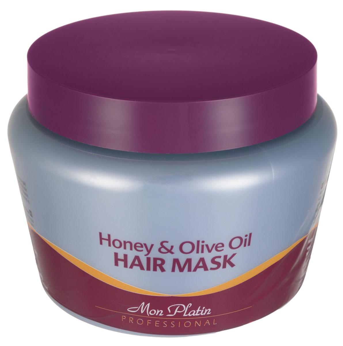 Mon Platin Professional Маска для волос на основе оливкового масла и меда 500млMP543Маска предназначена для быстрого, безопасного восстановления волос после покрасок, обесцвечивания, химических, завивок; придает жизненную силу и здоровье каждому отдельно взятому волоску; насыщает волосы аминокислотами и питает их необходимыми элементами; очищает кожу головы и волосы. После применения средства волосы становятся мягкими и шелковистыми, легко расчесываются. Входящие в состав маски компоненты придают волосам приятный ненавязчивый аромат, а защитные фильтры - максимальную защиту от ультрафиолетового излучения.