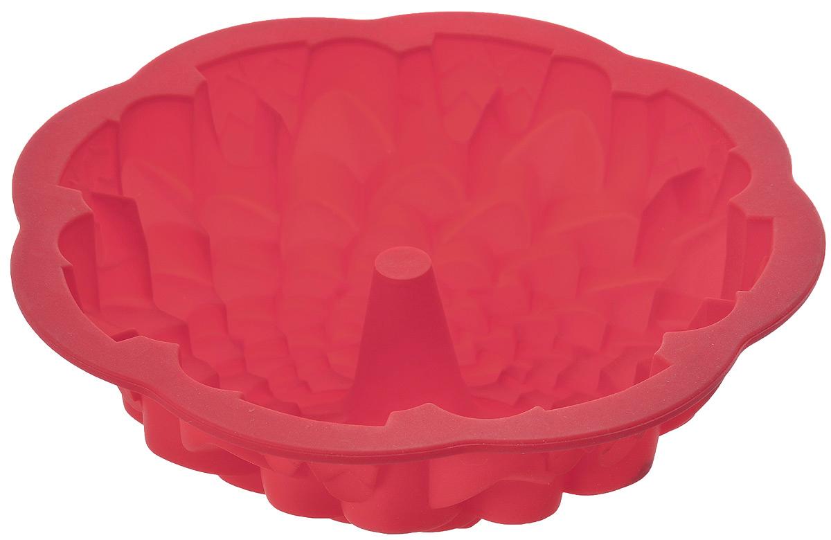 Форма для выпечки кекса Mayer & Boch Хризантема, круглая, цвет: красный , диаметр 22 см22075Круглая форма Mayer & Boch Хризантема будет отличным выбором для всех любителей выпечки. Благодаря тому, что форма изготовлена из силикона, готовую выпечку вынимать легко и просто. Стенки формы оснащены рельефной поверхностью. Форма прекрасно подходит для выпечки кексов. С такой формой вы всегда сможете порадовать своих близких оригинальной выпечкой. Материал изделия устойчив к фруктовым кислотам, может быть использован в духовках, холодильниках, микроволновых печах. Антипригарные свойства материала позволяют готовить без использования масла. Можно мыть в посудомоечной машине. Диаметр (по верхнему краю): 22 см. Высота стенок: 7,5 см.
