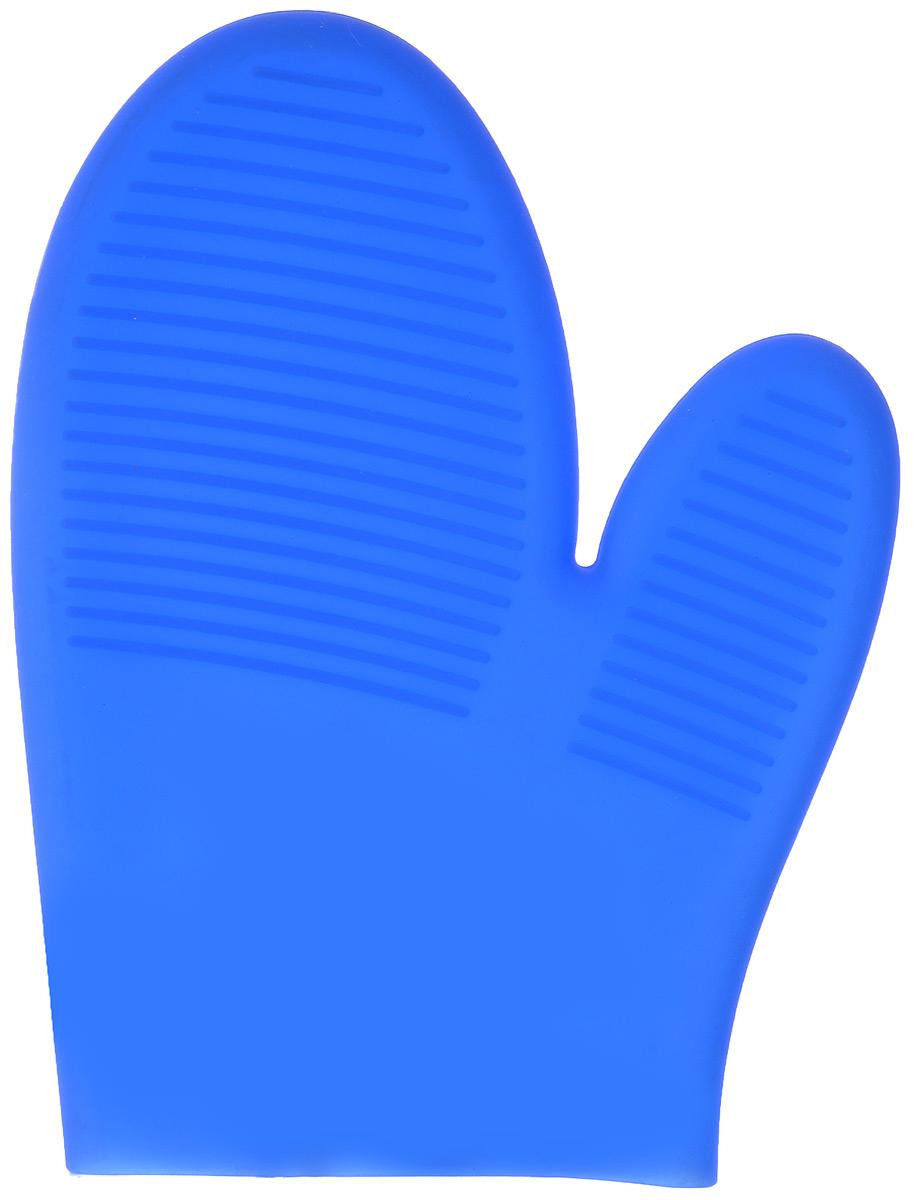 Прихватка-варежка силиконовая Mayer & Boch, цвет: синий, 22 см х 16,5 см. 2004120041Прихватка-варежка Mayer & Boch изготовлена из прочного цветного силикона. Она способна выдерживать температуру от -60°C до +230°С. Эластична, износостойка, влагонепроницаема, легко моется, удобно и прочно сидит на руке. С помощью такой прихватки ваши руки будут защищены от ожогов, когда вы будете ставить в печь или доставать из нее выпечку. Можно мыть в посудомоечной машине.