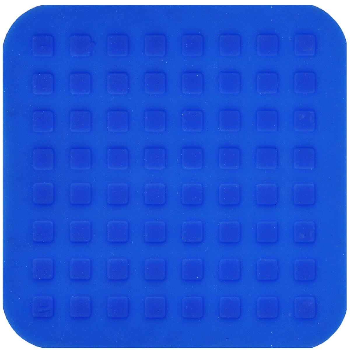 Подставка под горячее Mayer & Boch, силиконовая, цвет: синий, 16 х 16 см20058Подставка под горячее Mayer & Boch изготовлена из силикона и декорирована объемными изображениями квадратов. Материал позволяет выдерживать высокие температуры и не скользит по поверхности стола. Каждая хозяйка знает, что подставка под горячее - это незаменимый и очень полезный аксессуар на каждой кухне. Ваш стол будет не только украшен яркой и оригинальной подставкой, но и сбережен от воздействия высоких температур.