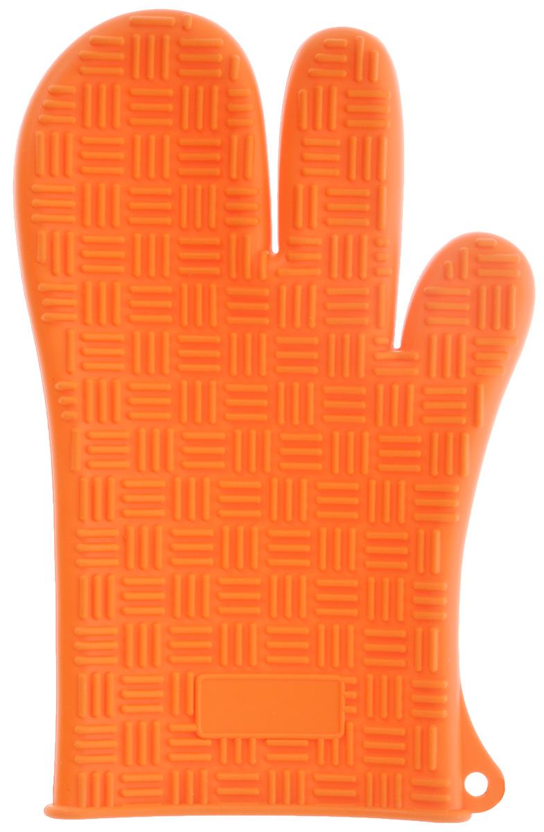 Прихватка-перчатка Mayer & Boch, силиконовая, цвет: оранжевый, 27 см х 17 см21990Прихватка-перчатка Mayer & Boch изготовлена из прочного цветного силикона. Она способна выдерживать температуру от -60°C до +230°С. Эластична, износостойка, влагонепроницаема, легко моется, удобно и прочно сидит на руке. С помощью такой прихватки ваши руки будут защищены от ожогов, когда вы будете ставить в печь или доставать из нее выпечку. Можно мыть в посудомоечной машине.