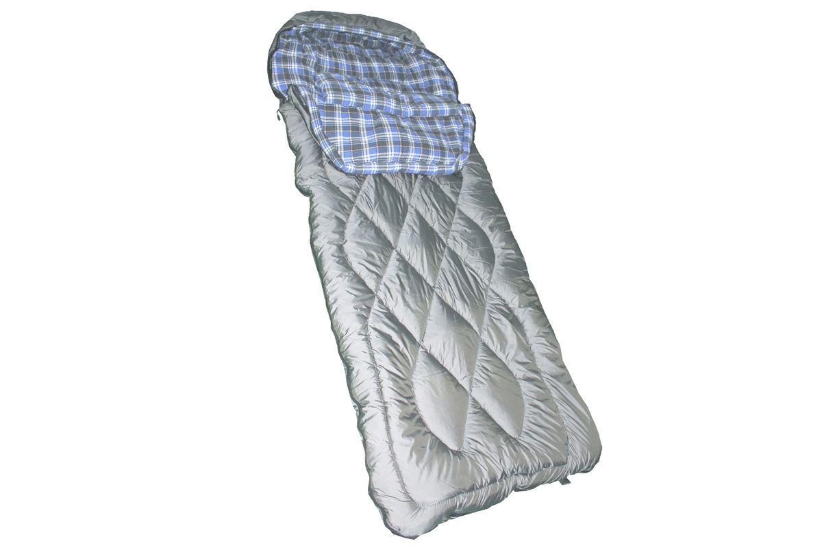 Спальный мешок Woodland IRBIS 600, цвет: серый / зелёный.54683
