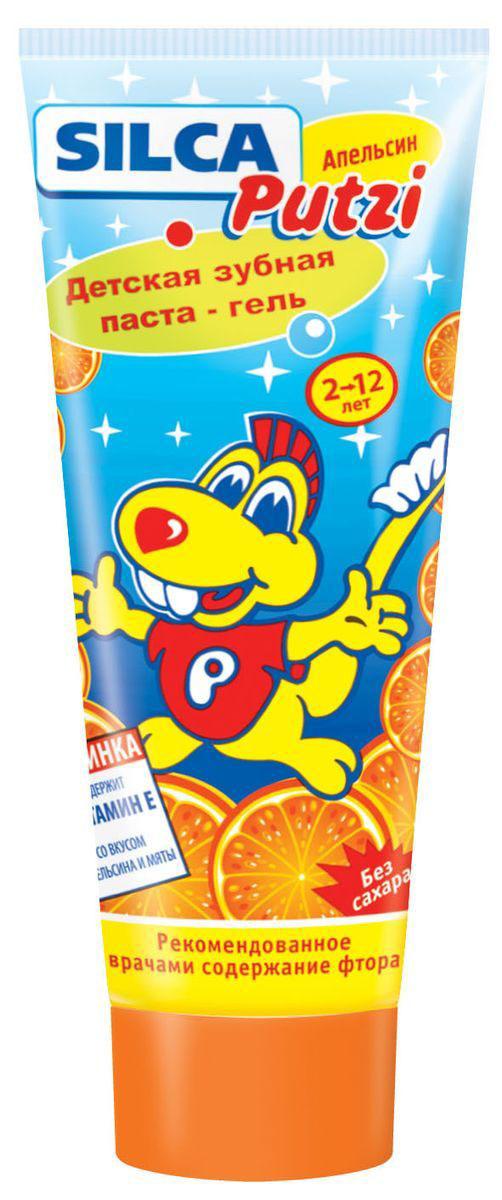 Silca Putzi Зубная паста Апельсин от 2 до 12 лет13317Детская зубная паста Silca Putzi с нежным апельсиновым вкусом и запахом, несомненно, порадует вашего ребенка. Низкая абразивность пасты делает ее абсолютно безопасной для неокрепшей детской эмали. Специально разработанный комплекс не травмирует желудок при случайном проглатывании. Паста не содержит сахара. Специально разработанная низкоабразивная рецептура на основе диоксида кремния нежно очищает неокрепшую эмаль детских зубов. Оптимальное содержание фтора надежно защищает молочные и постоянные зубы от кариеса. Витамин Е укреплает десны. Вкус апельсина превращает процедуру чистки зубов в настоящее удовольствие. Товар сертифицирован.