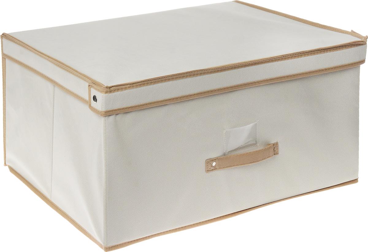 Чехол-коробка Cosatto, цвет: бежевый, белый, 60 х 45 х 30 смCOVLSCT003_бежевыйЧехол-коробка Cosatto выполнен из полипропилена и предназначен для хранения вещей. Он защитит вещи от повреждений, пыли, влаги и загрязнений во время хранения и транспортировки. Чехол-коробка идеально подходит для хранения детских вещей и игрушек. Жесткий каркас из плотного толстого картона обеспечивает устойчивость конструкции. В прозрачном кармашке на передней стенке чехла можно поместить бумажную этикетку с указанием содержимого чехла-коробки.