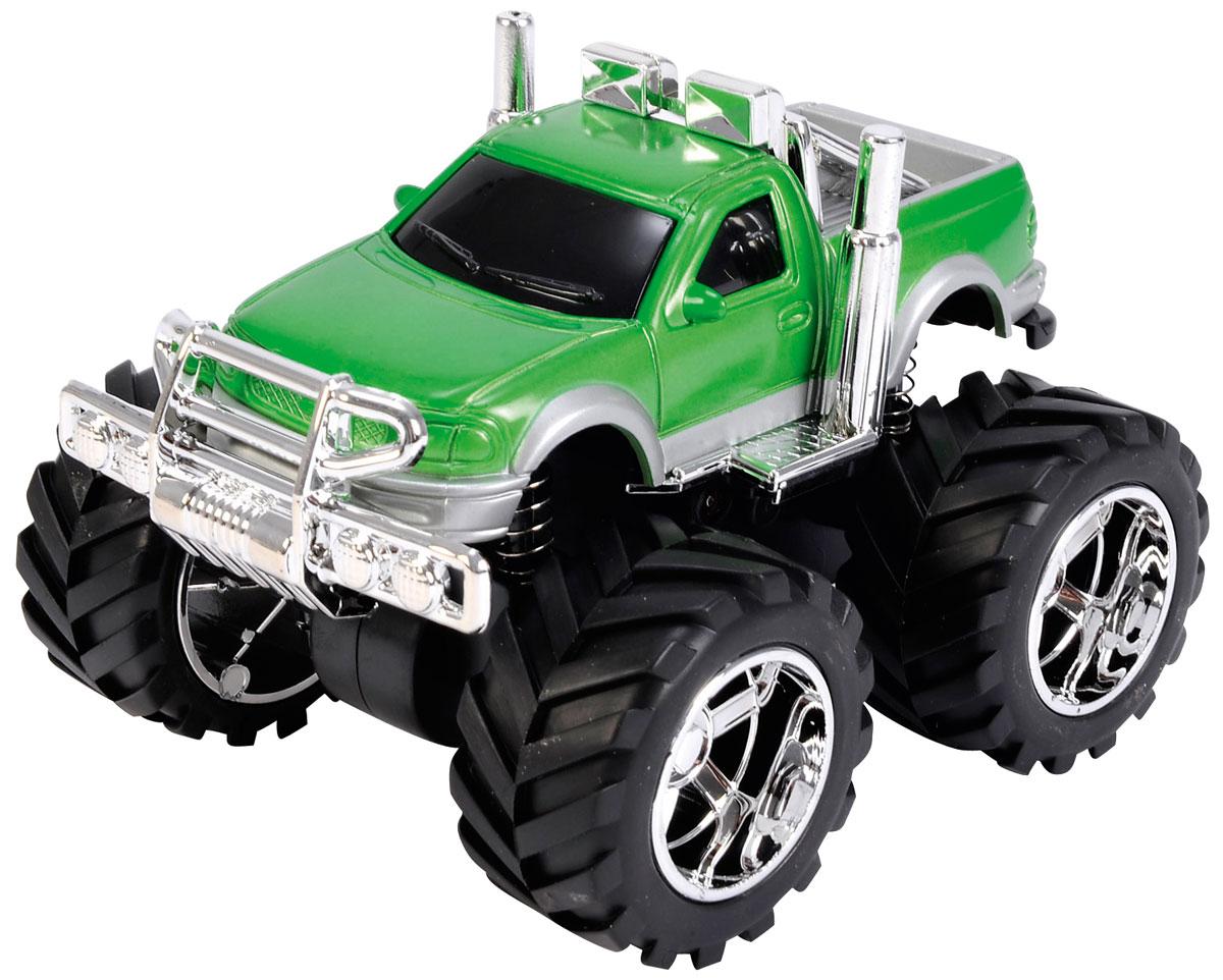Dickie Toys Джип инерционный 4 x 4 Hill Roader цвет зеленый3314837_зеленыйМашинка Dickie Toys Джип 4 x 4 Hill Roader обязательно понравится вашему маленькому гонщику и надолго увлечет его. Игрушка выполнена из безопасного пластика в виде быстрого джипа. Колесики прорезинены, что обеспечивает наилучшее сцепление с полом. Машинка дополнена инерционным ходом - отведите ее назад и отпустите, и машинка быстро поедет вперед. Игры с такой машинкой развивают концентрацию внимания, координацию движений, мелкую и крупную моторику, цветовое восприятие и воображение. Малыш будет часами играть с этой машинкой, придумывая разные истории. Порадуйте своего ребенка таким замечательным подарком!
