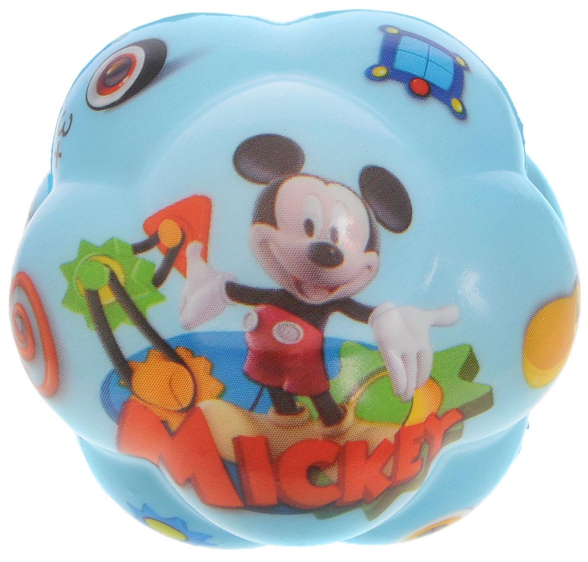 John Игрушка Суперпрыгающий мяч Mickey56621WD_голубойJohn Суперпрыгающий мяч бозагга Mickey прекрасно подойдет для самых маленьких. Мячик выполнен из ПВХ, имеет необычную форму с выпуклостями, которая обеспечивает ему высокую прыгучесть. Мячик с изображением героя любимого мультфильма непременно заинтересует ребенка, ему сразу захочется его потрогать. Яркий мячик станет незаменимым спутником для всех любителей подвижных игр. Он развивает координацию движений и мелкую моторику.