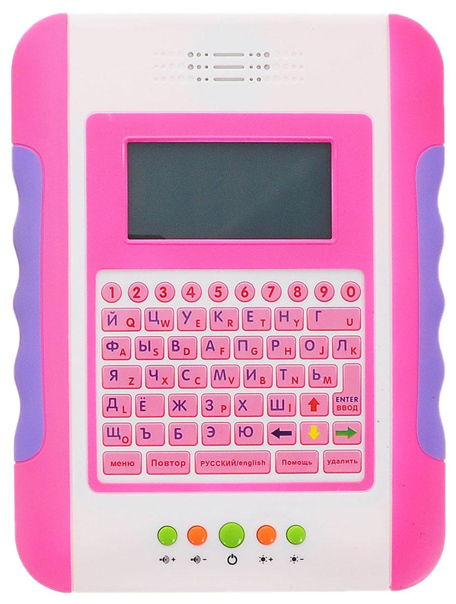 Joy Toy Компьютер обучающий ПланшетA848-H05063Планшетный компьютер Joy Toy предназначен специально для детей. Особенностью компьютера является то, что он на двух языках, так что ваш ребенок овладеет знаниями двух языков, выучит азы компьютера, выучит цифры и буквы. У детского планшета цветной экран, что делает его более занимательным как для игр так и для обучения. Планшетный компьютер имеет 35 разный функций обучения, 11 веселых игр и музыкальную шкатулку. Питание: 4 батарейки типа АА (в комплект не входят).