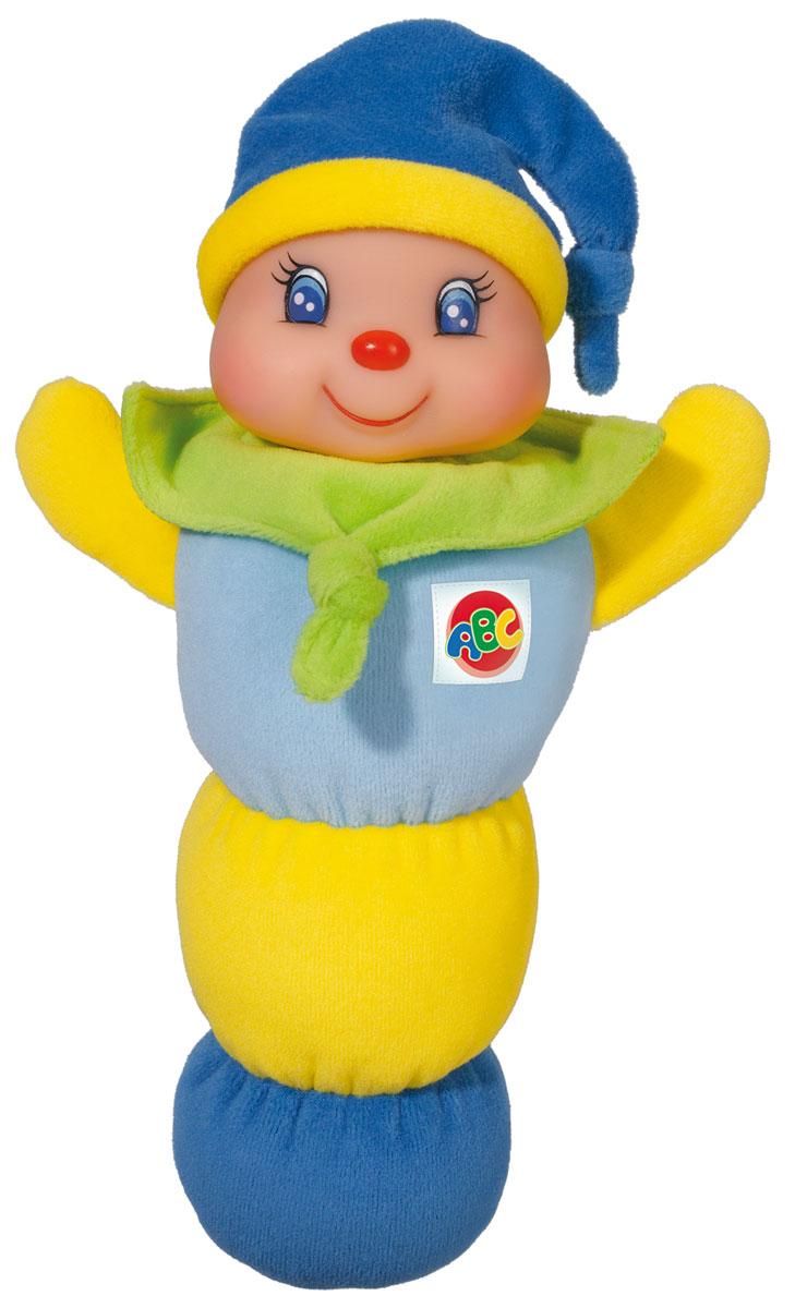 Simba Игрушка Клоун цвет голубой желтый зеленый4011653_голубой/желтый/зеленыйОчаровательная игрушка Simba Клоун привлечет внимание вашего малыша. Игрушка представлена в виде веселого клоуна, голова которого начинает светиться, если нажать ему на грудь. Тело изготовлено из приятного на ощупь материала, а голова из прочного материала. Эта замечательная игрушка обязательно понравится вашему малышу, он всегда будет брать ее в постель. Порадуйте своего малыша таким замечательным подарком! Рекомендуется докупить 2 батарейки напряжением 1,5V типа R6 (товар комплектуется демонстрационными).