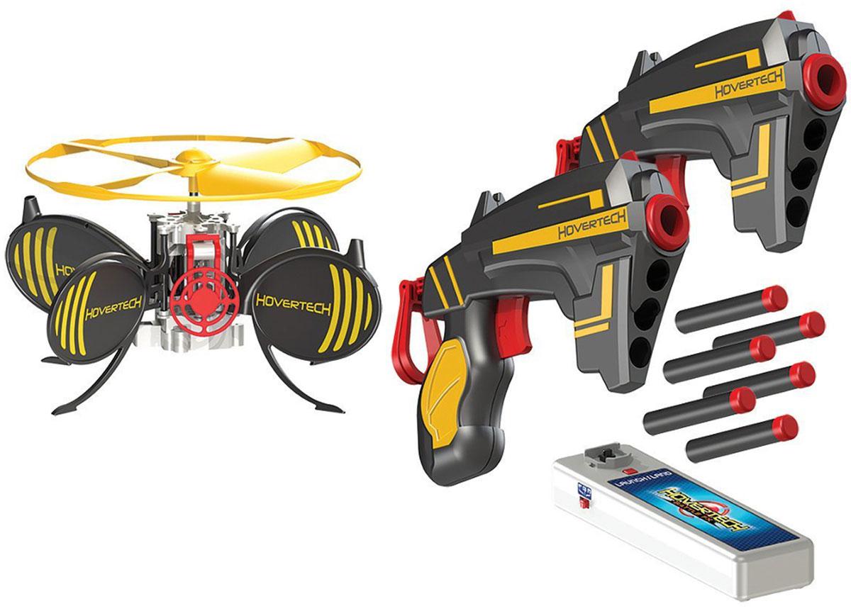 HoverTech Игровой набор Летающая мишень Battle FX201400310Интерактивный тир HoverTech Летающая мишень Battle FX - мечта любого мальчишки! В набор входит 2 бластера, стреляющих стандартными зарядами весом 1 грамм, мишень, парящая в воздухе и уклоняющаяся от выстрелов, а также зарядное устройство. Мишень, благодаря специальному датчику, парит на высоте 1-1,5 метра от поверхности. Задача игрока - поразить ее центр своим выстрелом. Но это не так просто, как кажется на первый взгляд. Аккумулятор мишени работает в течении 5 минут непрерывной игры. Предусмотрено 3 игровых режима: 1. Практика - дрон будет летать 2 минуты, несмотря на попадания; 2. Одиночный режим - 2 минуты полета или 3 точных попадания; 3. Боевой режим (для опытных игроков) - 1 минута полета и 1 точное попадание. Порадуйте своего мальчишку таким замечательным подарком! Необходимо докупить 4 батарейки напряжением 1,5V типа АА (не входят в комплект).