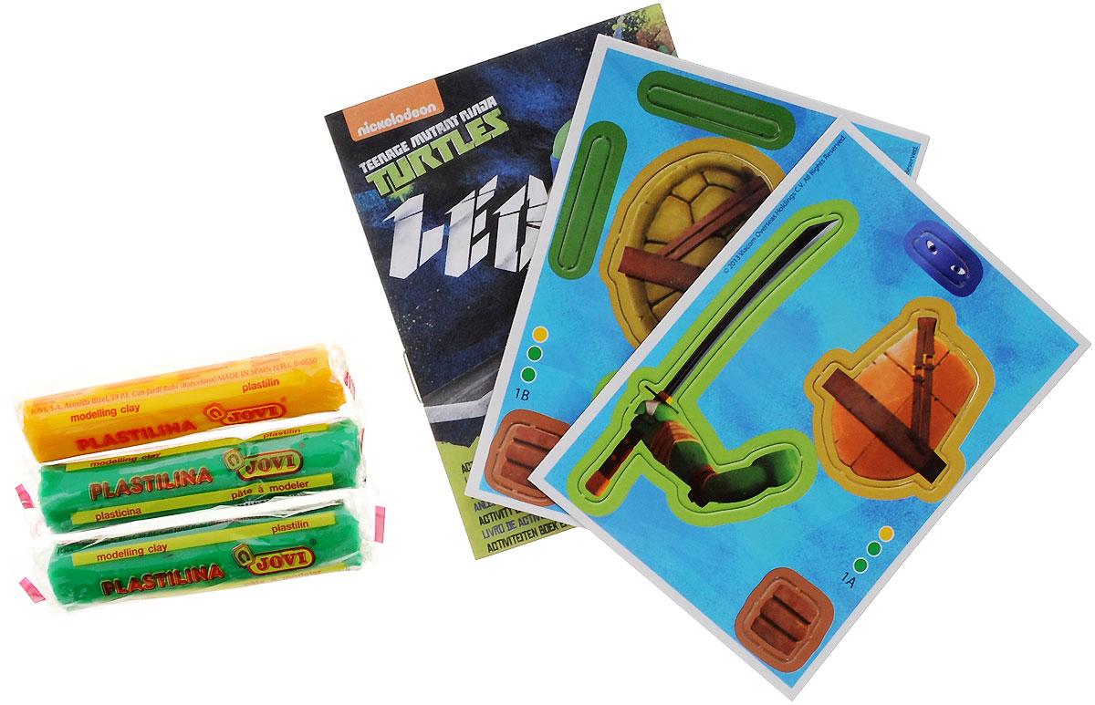 Giromax Набор для лепки Teenage Mutant Ninja Turtles ЛеонардоG 305171_ЛеонардоНабор для лепки Giromax Teenage Mutant Ninja Turtles: Леонардо позволит вашему ребенку создать поделку в виде черепашки Леонардо - персонажа популярного мультсериала Черепашки Ниндзя. Набор включает в себя три бруска пластилина (желтый и два зеленых), картонный лист с красочными элементами для оформления поделки, липучку для наклеивания элементов, а также брошюру с заданиями и инструкцией на русском языке. Работа с пластилином подарит вашему ребенку положительные эмоции, а также поможет развить мелкую моторику рук, внимательность и усидчивость.