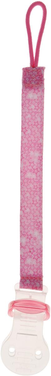 Bibi Клипса для пустышки Сезонная коллекция цвет розовый111707_розовыйКлипса для пустышки Bibi Сезонная коллекция позволит избежать ситуации, когда пустышка падает, теряется и становится грязной. Держатель выполнен из текстильной ленты, на одном конце которой расположена петля, а на другом - пластиковая клипса. Петля надевается на пустышку, а клипса пристегивается к нагруднику, одежде ребенка или коляске.
