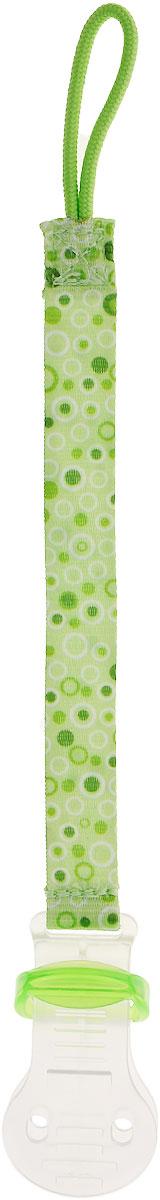 Bibi Клипса для пустышки Сезонная коллекция цвет зеленый111707_зеленыйКлипса для пустышки Bibi Сезонная коллекция позволит избежать ситуации, когда пустышка падает, теряется и становится грязной. Держатель выполнен из текстильной ленты, на одном конце которой расположена петля, а на другом - пластиковая клипса. Петля надевается на пустышку, а клипса пристегивается к нагруднику, одежде ребенка или коляске.