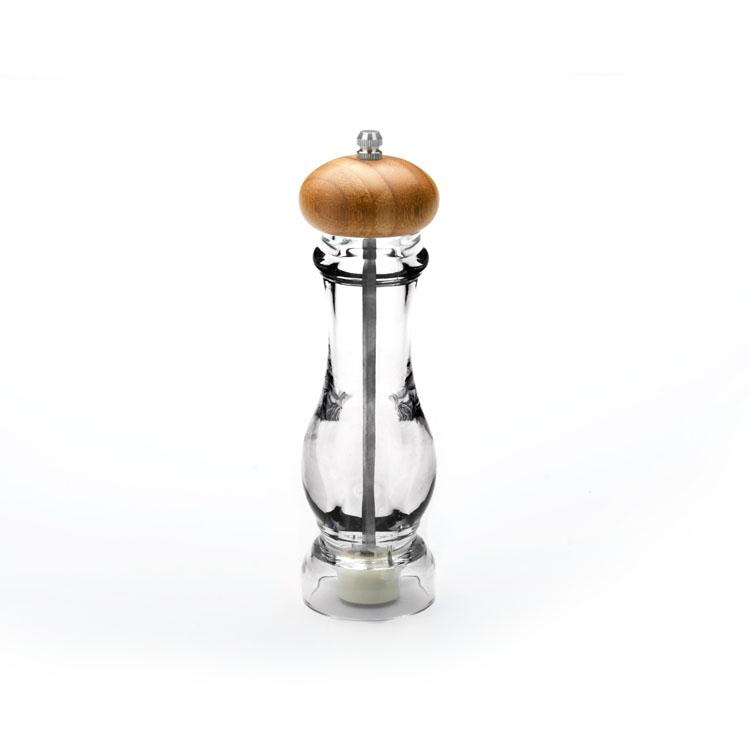 Перечница Mayer & Boch, 6 см х 6 см х 21 см23896Перечница Mayer & Boch, выполненная из акрила, предназначена для хранения и помола перца и других специй. Перечница оснащена удобной вращающейся ручкой, выполненной из бамбука. Такая перечница станет незаменимым предметом при приготовлении пищи. Размеры: 6 см х 6 см х 21 см.