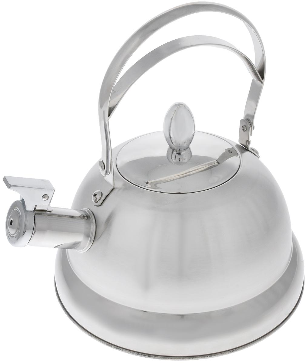 Чайник Mayer & Boch, со свистком, 3 л. 2323223232Чайник Mayer & Boch выполнен из высококачественной нержавеющей стали, что делает его весьма гигиеничным и устойчивым к износу при длительном использовании. Носик чайника оснащен насадкой-свистком, что позволит вам контролировать процесс подогрева или кипячения воды. Подвижная ручка дает дополнительное удобство при наливании напитка. Поверхность чайника гладкая, что облегчает уход за ним. Эстетичный и функциональный, с эксклюзивным дизайном, чайник будет оригинально смотреться в любом интерьере. Подходит для всех типов плит, включая индукционные. Можно мыть в посудомоечной машине. Высота чайника (без учета ручки и крышки): 12 см. Высота чайника (с учетом ручки и крышки): 25 см. Диаметр чайника (по верхнему краю): 10,5 см.