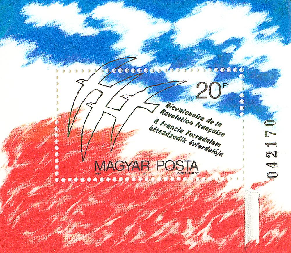Почтовый блок Слава Французской революции. Венгрия, 1969 год739Почтовый блок Слава Французской революции. Венгрия, 1969 год. Размер блока: 7 х 8 см. Размер марки: 3 х 5 см. Сохранность хорошая.