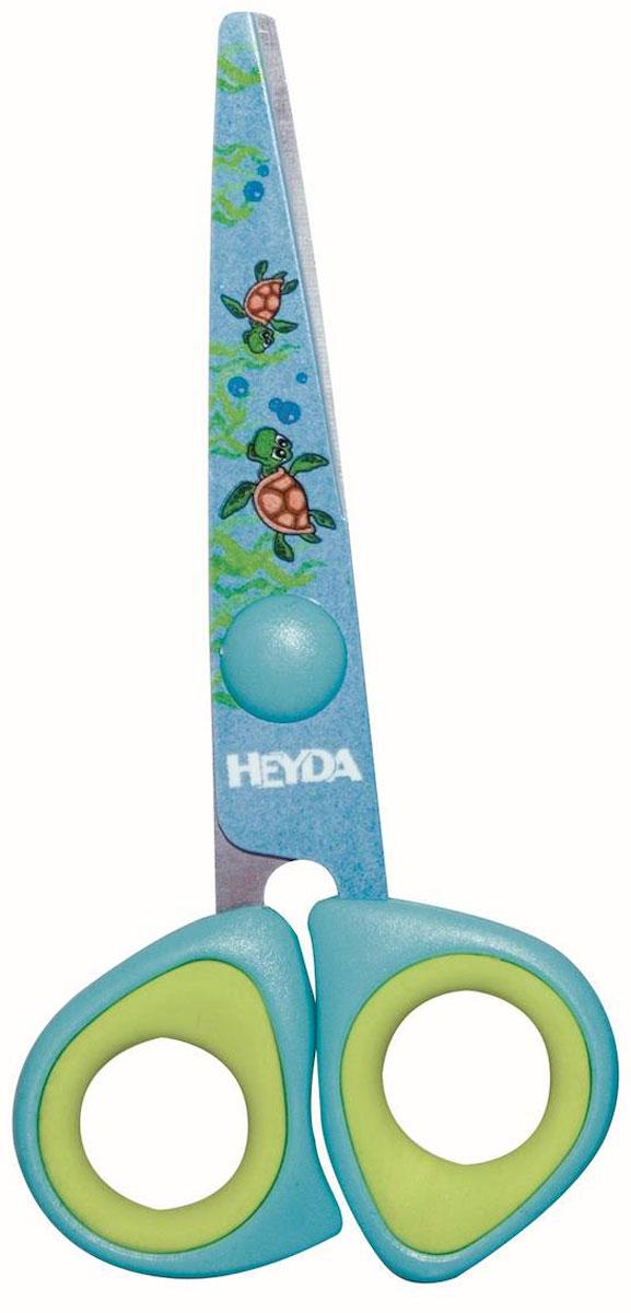 Heyda Ножницы детские цвет голубой салатовый48895-42\BCD_голубой, салатовыйДетские ножницы Heyda предназначены для детского творчества и художественно-оформительских работ. Лезвия выполнены из высококачественного нержавеющего металла. Облегченные пластиковые ручки с прорезиненными вставками адаптированы для детской руки. Ножницы имеют закругленный концы, что делает эксплуатацию безопасной.