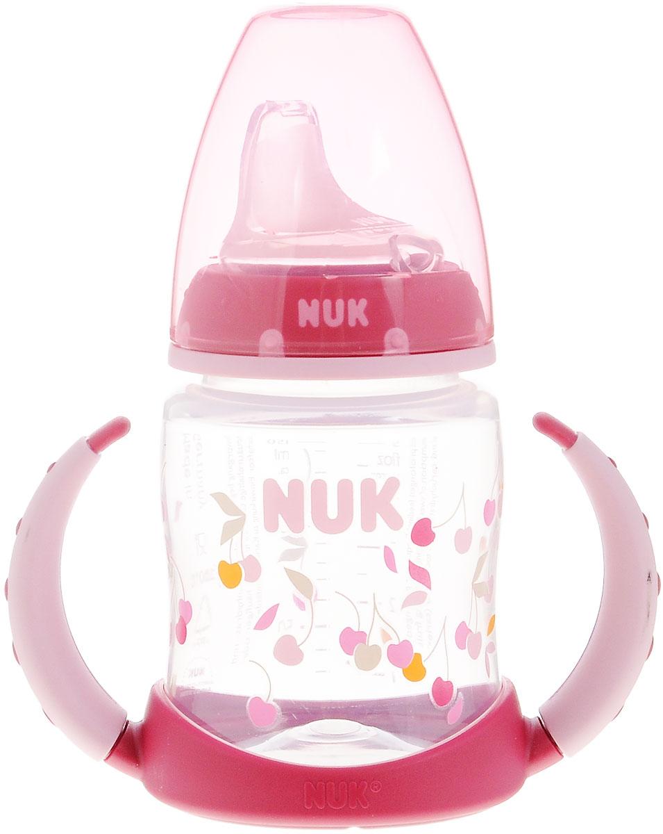 NUK Бутылочка-поильник First Choice с силиконовым носиком от 6 до 18 месяцев цвет бордовый 150 мл