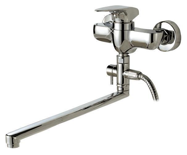 Смеситель для ванны/душа Gro Welle ДИ Pfeffer. PFF722PFF722Смеситель для ванны и душа Gro Welle Preffer сочетает в себе отличные эксплуатационные характеристики и оригинальный дизайн. Керамический картридж Sedal 35 мм (Испания) - надежный рабочий элемент, выдерживающий давление более 3,5 Атм. Рассчитан на беспрерывную работу в 1500000 циклов - это примерно 30 лет эксплуатации. Аэратор Neoperl Cascade (США) изготовлен из высококачественного пластика, благодаря чему на нем не образуется налет. Водная струя насыщается воздухом, становится ровной и без брызг. Тело смесителя отлито из высококачественной, безопасной для здоровья пищевой латуни. Хромоникелевое покрытие Crystallight придает изделию яркий металлический блеск и эстетичный внешний вид. Имеет водоотталкивающие свойства, благодаря которым защищает тело смесителя. Устойчив к кислотным и щелочным чистящим средствам. Смеситель Gro Welle Preffer эргономичен, прост в монтаже и удобен в использовании. В комплект входит: смеситель, набор для монтажа. Длина...