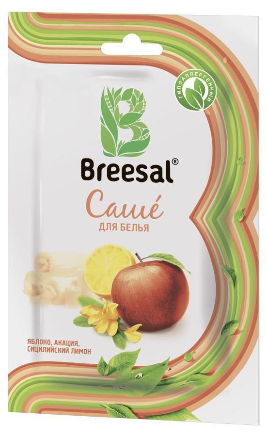 Breesal Ароматическое саше для белья Атласный восторг32970439Саше ароматическое Breesal Атласный восторг с ароматом яблока, акации и сицилийского лимона. Восхитительные природные ароматы для Вашего дома. Состав: ароматическая композиция (в том числе терпены натурального эфирного масла апельсина, бутилфенил метилпропиональ, цитраль, цитронеллол, гексилциннамаль, лимонен, линалоол); природный минерал тальк. Длительность действия: до 30 дней. Способ применения: Откройте упаковку. Достаньте бумажный пакетик с ароматическим саше. Внимание бумажный пакетик с ароматическим саше не вскрывать. Положите саше в ящик для белья, комод или повести в платяной шкаф или автомобиль при помощи держателя. Меры предосторожности: Хранить в местах, недоступных для детей. Использовать по назначению и согласно способу применения.