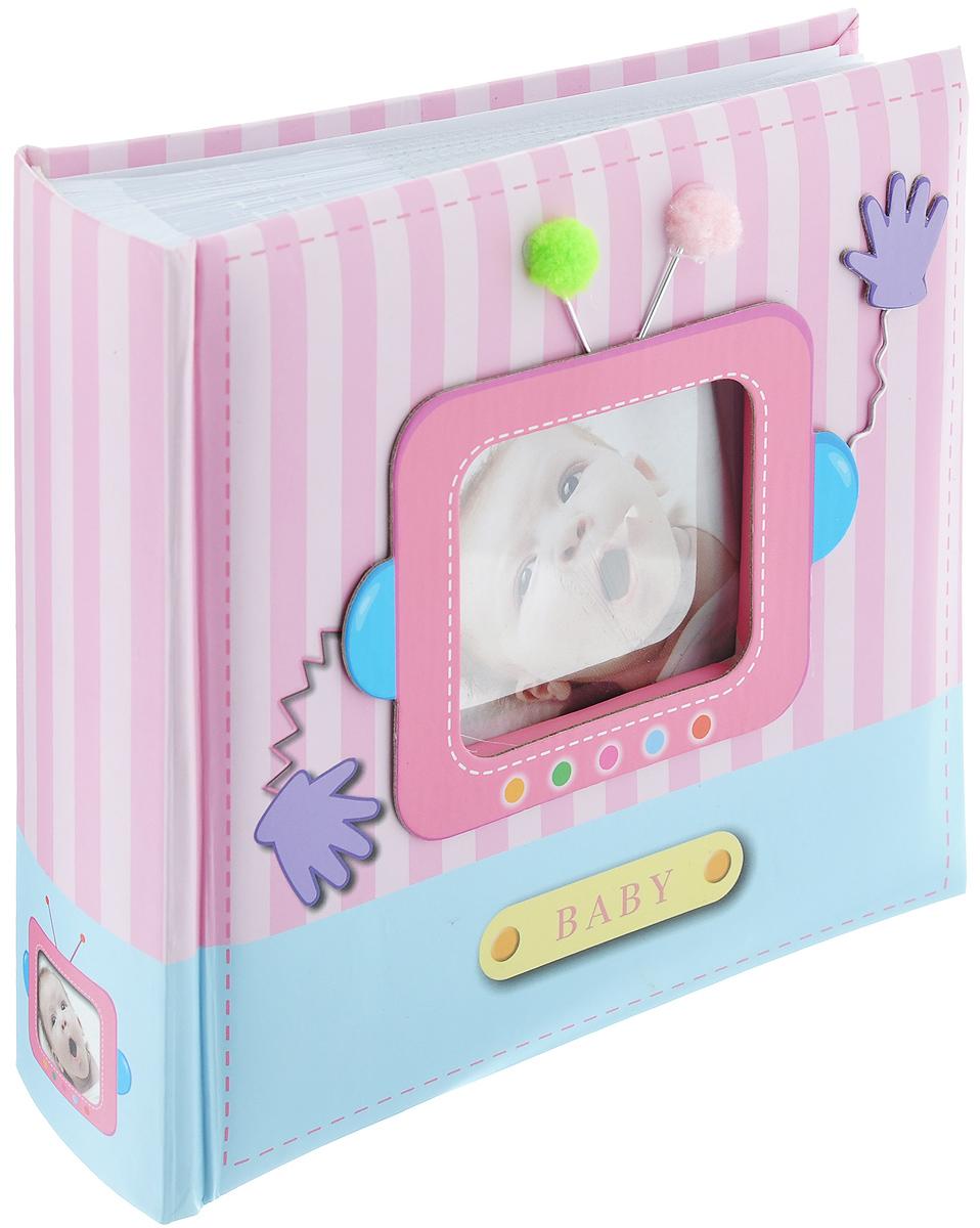 Фотоальбом Image Art Baby, 100 фотографий, 10 x 15 см Б0008989Б0008989_розовыйФотоальбом Image Art Baby поможет красиво оформить ваши самые интересные фотографии. Обложка выполнена из толстого картона. С лицевой стороны обложки имеется квадратное окошко для вашей самой любимой фотографии (размером 6,5 см х 5,5 см). Внутри содержится блок из 50 листов с фиксаторами-окошками из полипропилена. Альбом рассчитан на 100 фотографий формата 10 см х 15 см (по 1 фотографии на странице). В альбоме также предусмотрено поле для записей. Переплет - книжный. Нам всегда так приятно вспоминать о самых счастливых моментах жизни, запечатленных на фотографиях. Поэтому фотоальбом является универсальным подарком к любому празднику. Количество листов: 50.