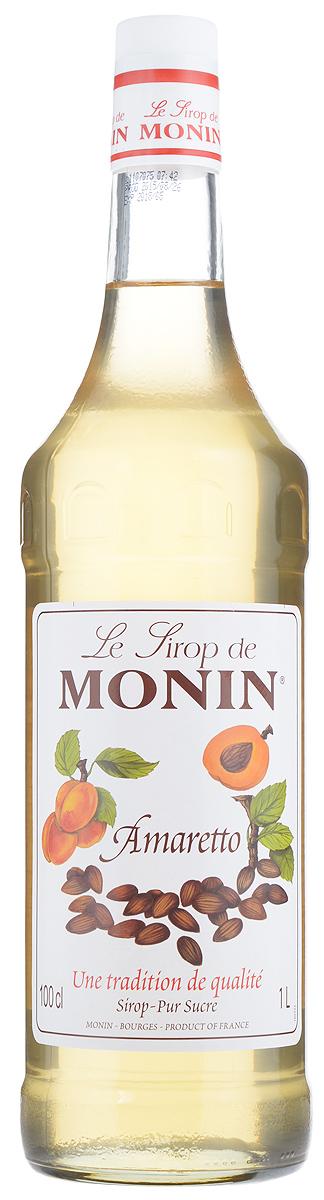 Monin Амаретто сироп, 1 лSMONN0-000053Сиропы Monin выпускает одноименная французская марка, которая известна как лидирующий производитель алкогольных и безалкогольных сиропов в мире. В 1912 году во французском городке Бурже девятнадцатилетний предприниматель Джордж Монин основал собственную компанию, которая специализировалась на производстве вин, ликеров и сиропов. Место для завода было выбрано не случайно: город Бурже находился в непосредственной близости от крупных сельскохозяйственных районов — главных поставщиков свежих ягод и фруктов. Эксперты всего мира сходятся во мнении, что сиропы Monin — это законодатели мод в миксологии. Ассортимент французской марки на сегодняшний день является самым широким и насчитывает полторы сотни уникальных вкусовых решений. В каталоге компании можно найти как классические вкусы для кофейных напитков (шоколадный, ванильный, ореховый и другие сиропы), так и весьма экзотические варианты (сиропы со вкусом кокоса, зеленой мяты, тирамису, блю курасао, аниса,...