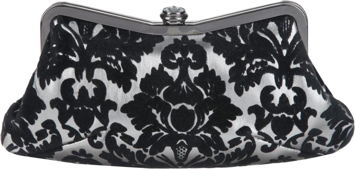 Клатч Fabretti, цвет: серый, черный. WLU9734-2WLU9734-2 grey/blackЭлегантный вечерний клатч Fabretti выполнен из полиэстера и металла. Изделие оформлено оригинальным узором и пластиковым кристаллом. Изделие содержит одно отделение и закрывается на рамочный замок. Внутри расположен накладной карман. Клатч оснащен укороченным наплечным ремнем-цепочкой. Клатч Fabretti прекрасно завершит ваш праздничный образ.