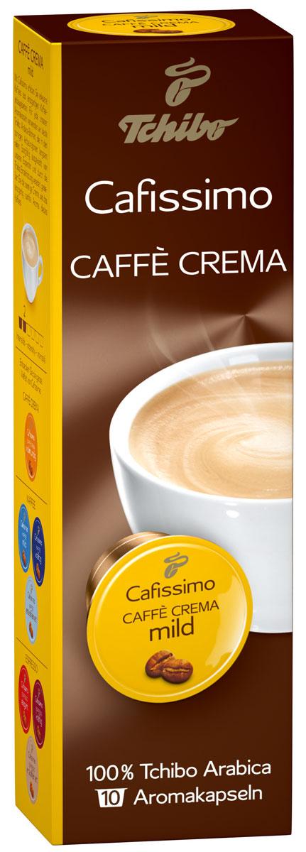 Cafissimo Caffe Crema Mild кофе в капсулах, 10 шт464512Cafissimo познакомит вас с изысканным кофе, собранном на превосходных кофейных плантациях. Каждая кофейная капсула Tchibo содержит гармоничную композицию из лучших зерен Arabica, которые медленно вызревали на солнечных полях. Тщательно отобранные для вас профессионалами и прошедшие индивидуальную обжарку зерна Tchibo идеально передают неповторимый мягкий аромат кофе с бархатной крем-пенкой.