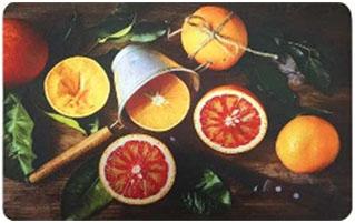 Коврик для кухни Апельсины, 45 х 75 см, SUNSTEP37-701