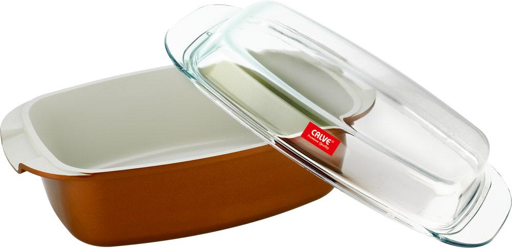Жаровня Calve с крышкой, с керамическим покрытием, прямоугольная, 5 лCL-1931Жаровня Calve изготовлена из литого алюминия с керамическим покрытием, которое предотвращает пригорание и прилипание пищи. Изделие снабжено стеклянной крышкой, которая может быть использована в духовке как форма для запекания. Подходит для газовых, электрических, галогеновых и стеклокерамических плит. Не подходит для индукционных плит. Можно мыть в посудомоечной машине.