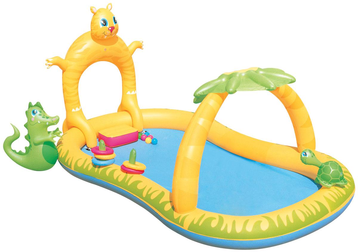 Bestway Бассейн надувной игровой Сафари в джунглях. 53030