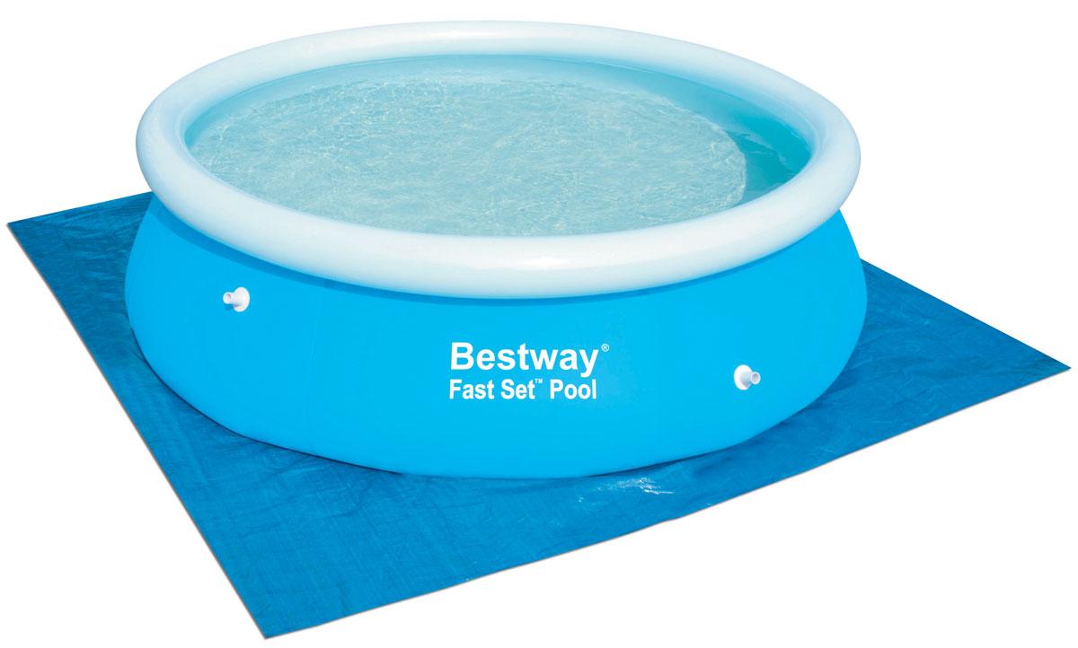 Bestway Подстилка для бассейнов, 274 х 274 см. 5800058000Подходит для бассейнов размером до 2,44 м. Обеспечивает дополнительную защиту дна бассейна.