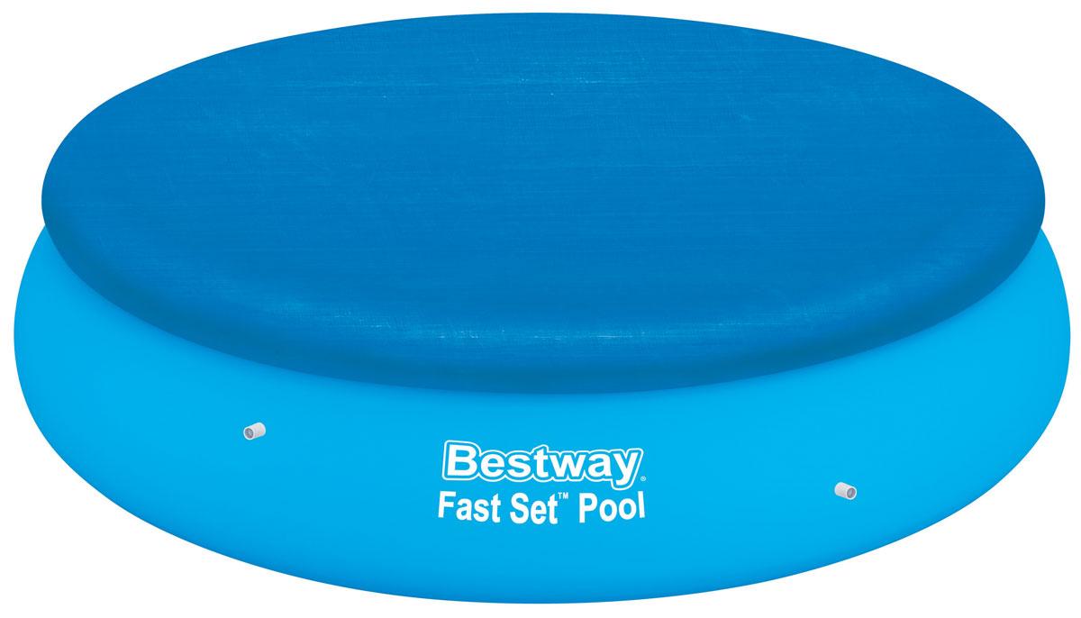 Bestway Тент для бассейнов с надувным бортом, диаметр 267 см. 5803258032Тент Bestway подходит для бассейнов Fast Set диаметром 244 см. Выполнен из высококачественного полиэтилена. В комплекте шнуры для крепления крышки. Сливные отверстия предотвращают скопление воды. Диаметр тента: 267 см. Диаметр бассейна: 244 см.